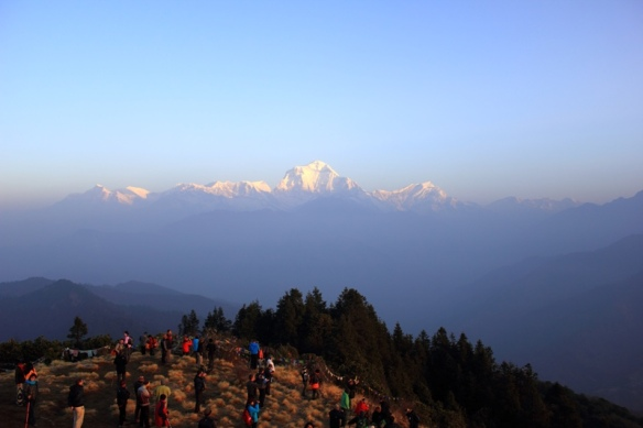Sunrise view from Poon Hill near Ghorepani at 6 am!