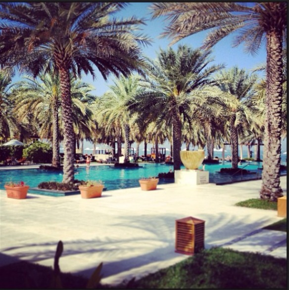 The pool of Al Bustan Palace (taken from my instagram pictures)