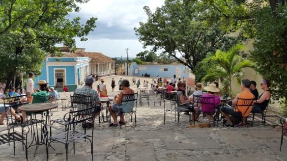Casa de la Musica terrace, Trinidad.